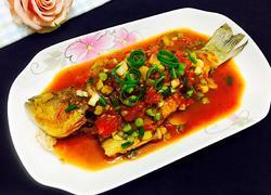 葱香茄汁焖鲈鱼