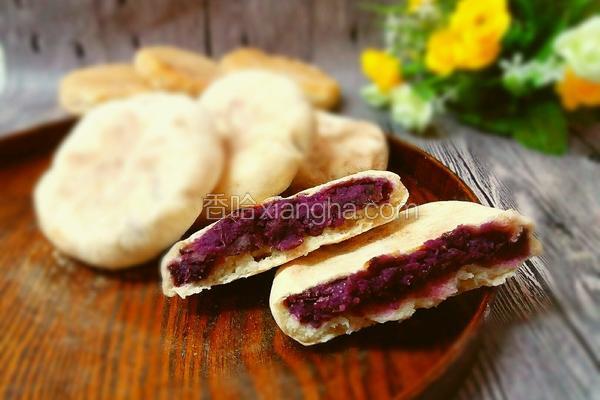 无油紫薯饼