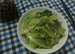 蒜末虾米生菜