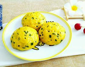 韭菜海米菜团子