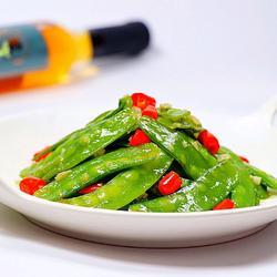 蒜香荷兰豆的做法[图]
