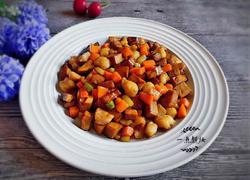 香干蔬菜炒肉丁