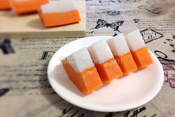 木瓜椰汁冻