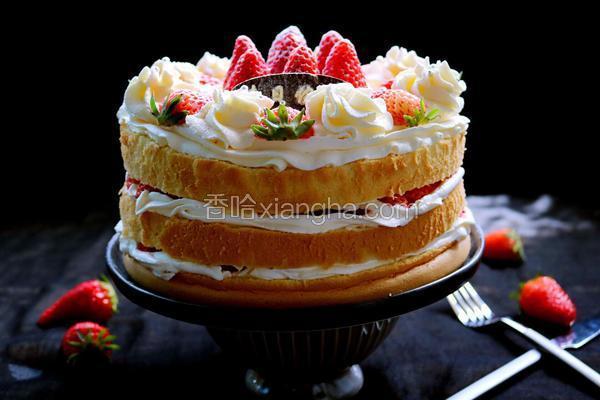 草莓裸蛋糕(8寸)