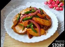洋葱辣椒炒豆腐卷