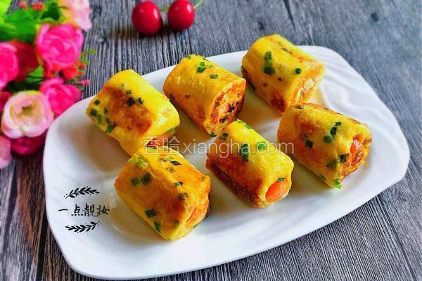 香葱热狗吐司卷