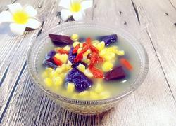 玉米茬子紫薯粥
