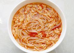 红油番茄鸡蛋汤面