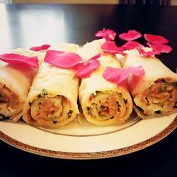 午餐肉蟹棒葱花煎饼