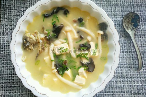 菌菇豆腐鲫鱼汤