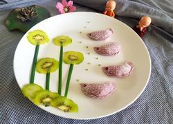 蔬汁金鱼饺子(韭菜馅)