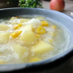苹果玉米粥