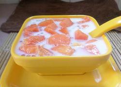 椰奶木瓜西米露