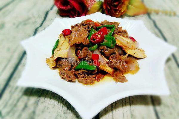 黑椒牛肉炒香干