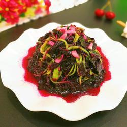 凉拌红苋菜