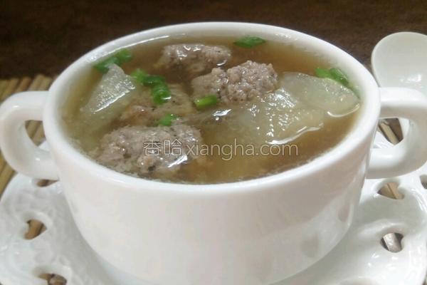 肉丸冬瓜汤的做法