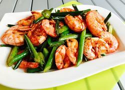 香炒蒜苔阿根廷红虾