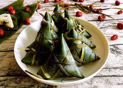 小枣糯米三角粽