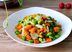 胡萝卜烧毛豆