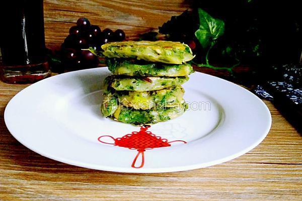 芹菜叶香菇饼