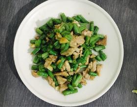 快手菜-瘦肉炒四季豆