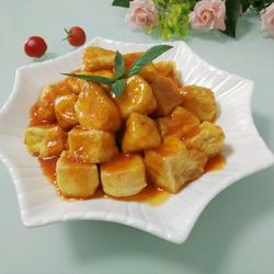 茄汁豆腐(自制豆腐)