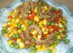 腰花炒玉米粒