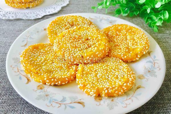 豆沙馅芝麻南瓜饼(电饼铛版)