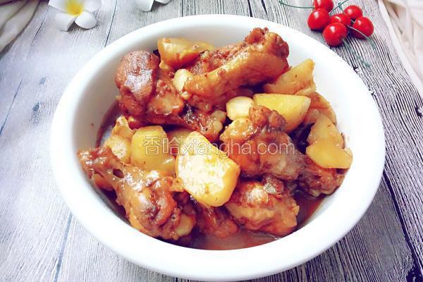 土豆鲍菇烧鸡翅根