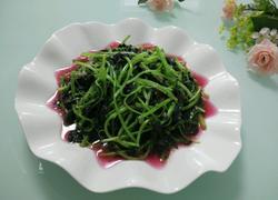 蒜泥炒红苋菜