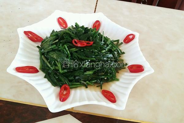 红椒炒韭菜