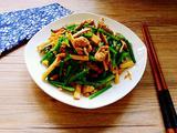韭菜苔熏干儿炒肉丝的做法[图]