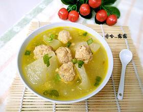 冬瓜肉丸子汤