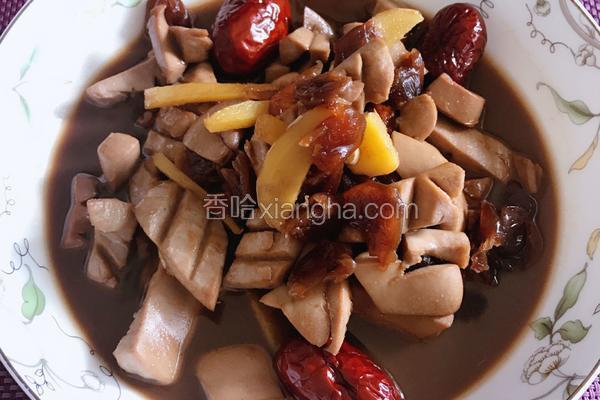 桂圆红枣枸杞爆炒猪腰花