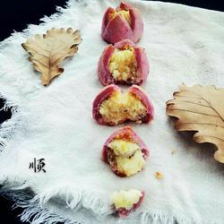 紫薯椰蓉开口酥