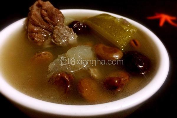 蚕豆红枣冬瓜大骨汤