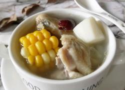 玉米山药煲鸡汤