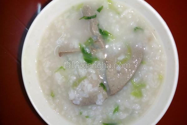 猪肝生菜粥