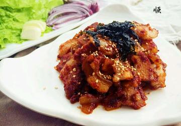 韩式辣炒五花肉