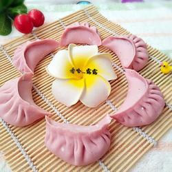 红心火龙果汁大蒸饺