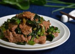 芥兰炒牛肉