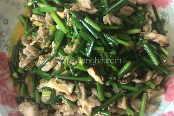 韭黄炒瘦肉