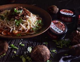 香菇酱肉末米线[图]