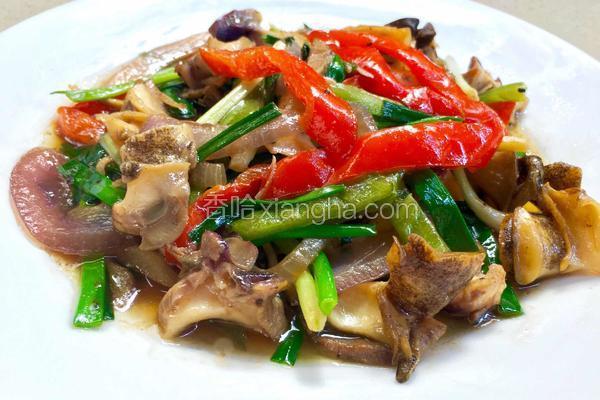 姜葱炒海螺肉
