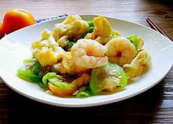 油条虾炒丝瓜
