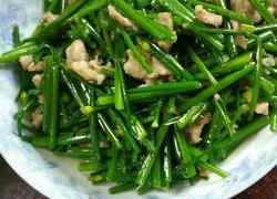 瘦肉炒韭菜花