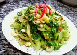 花生炒芥菜