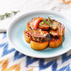 韩式辣酱慢煮青花鱼