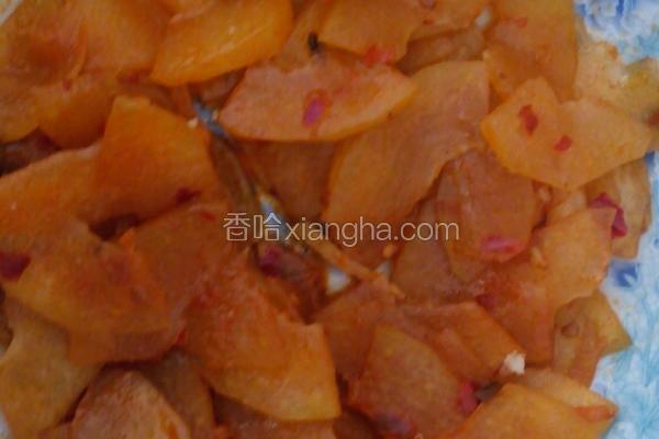 豆瓣酱炒冬瓜