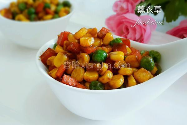 蚝油玉米豌豆粒